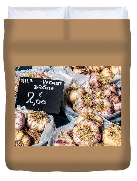 Garlic Two Euros Duvet Cover