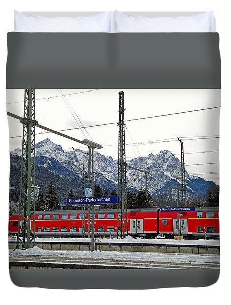 Garmisch-partenkirchen In Winter Duvet Cover