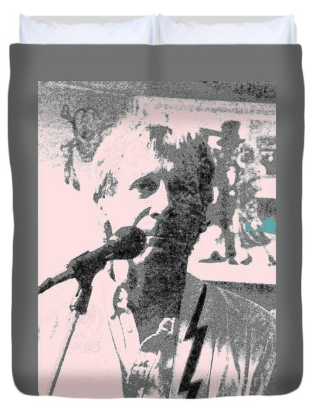 Duvet Cover featuring the photograph Gary Bertz by Jesse Ciazza