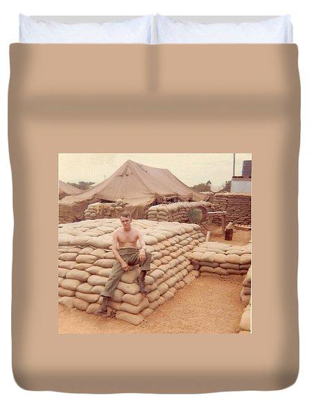 Gary On A Bunker Duvet Cover