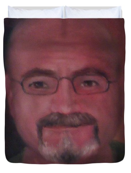 Duvet Cover featuring the painting Gary by Randol Burns