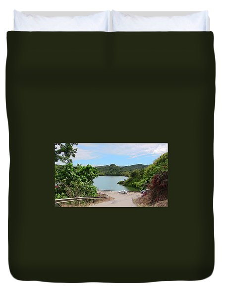 Garzas Lake Road Duvet Cover