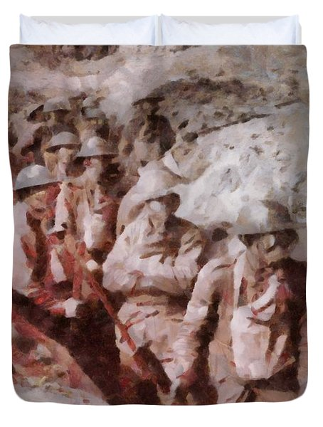 Gas Attack Wwi  Duvet Cover