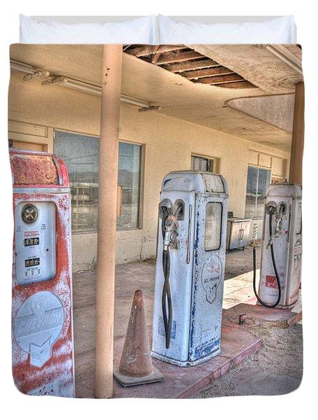 Gas Pumps Duvet Cover