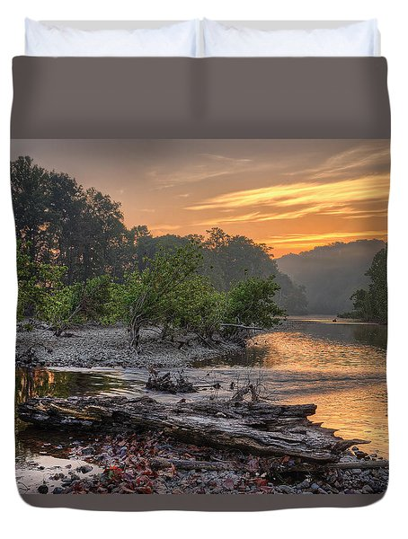 Gasconade River Duvet Cover