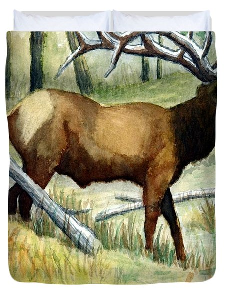 Gash Flats Bull Duvet Cover