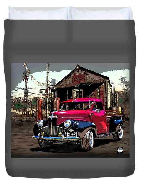 Gassed Up And Ready Duvet Cover