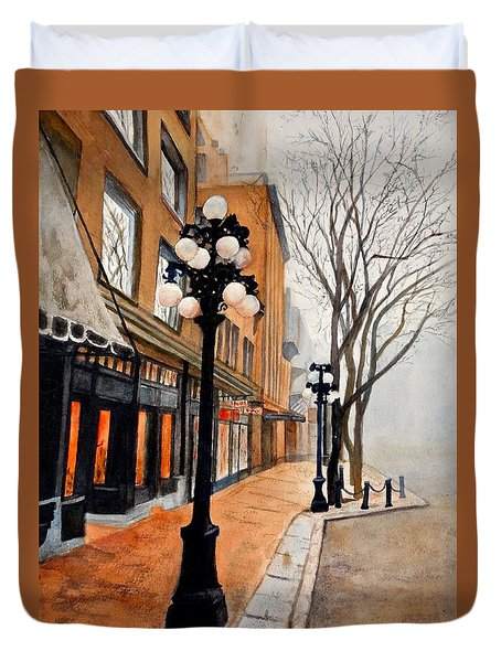 Gastown, Vancouver Duvet Cover by Sher Nasser