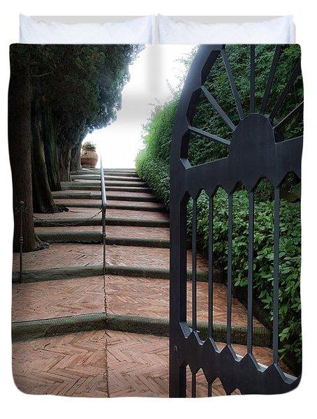 Gate To Castello Vichiamaggio Duvet Cover