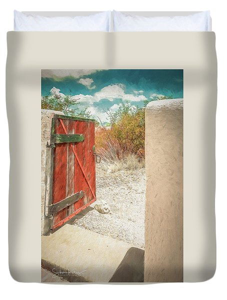 Gate To Oracle Duvet Cover