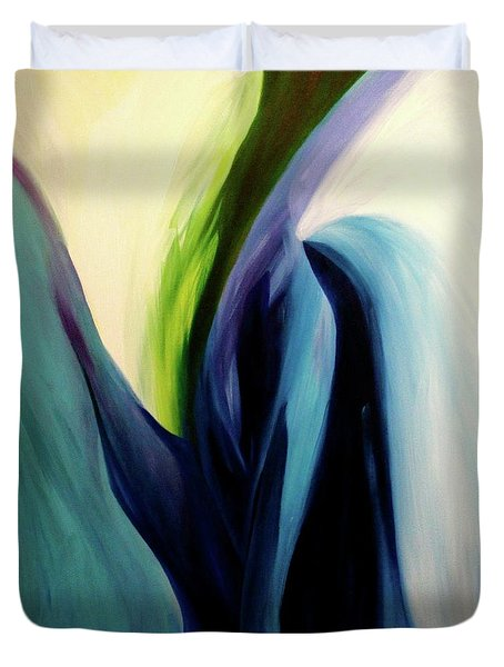 Duvet Cover featuring the painting Gate To The Garden  By Paul Pucciarelli by Iconic Images Art Gallery David Pucciarelli