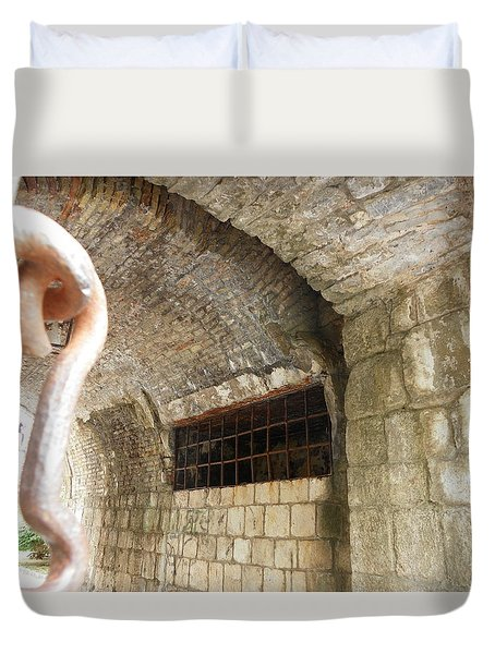 Gate To The Old Town Kotor Duvet Cover