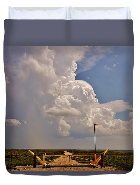 Duvet Cover featuring the photograph Gates Of Hail by Ed Sweeney