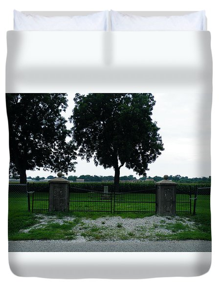 Gates Of Youth Cemetery Duvet Cover