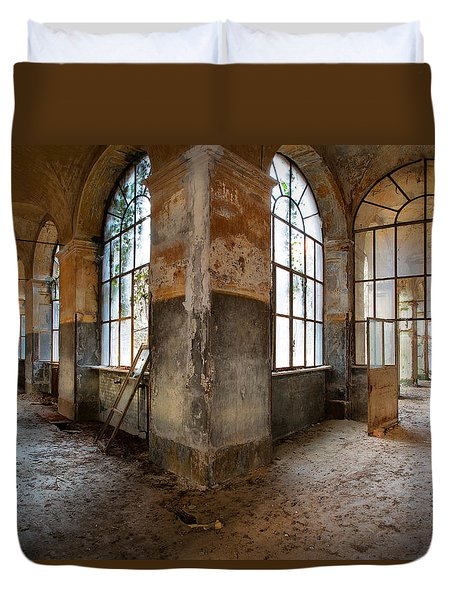 Gateway To Sanity - Abandoned Building Duvet Cover