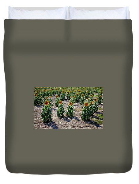 Gathering In Place Duvet Cover