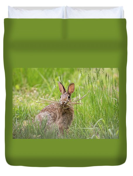 Gathering Rabbit Duvet Cover by Terry DeLuco
