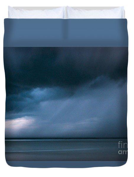 Gathering Storm Duvet Cover by John Greim