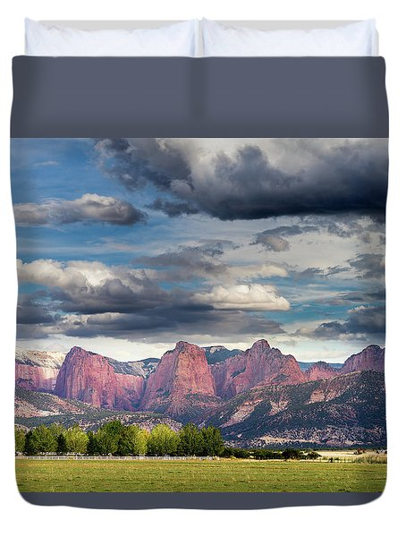 Gathering Storm Over The Fingers Of Kolob Duvet Cover