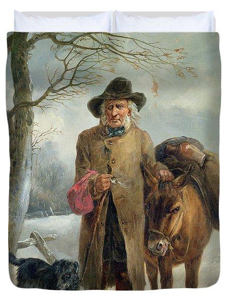 Gathering Winter Fuel  Duvet Cover by John Barker