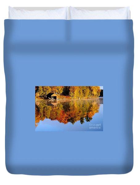 Gatineau Park Taylor Lake Duvet Cover