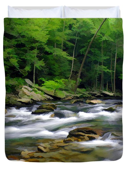Gatlinburg Stream Duvet Cover