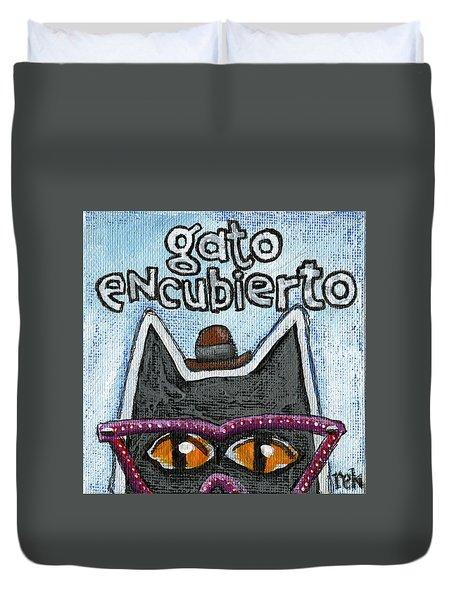 Gato Encubierto Duvet Cover
