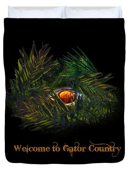 Gator Country  Duvet Cover