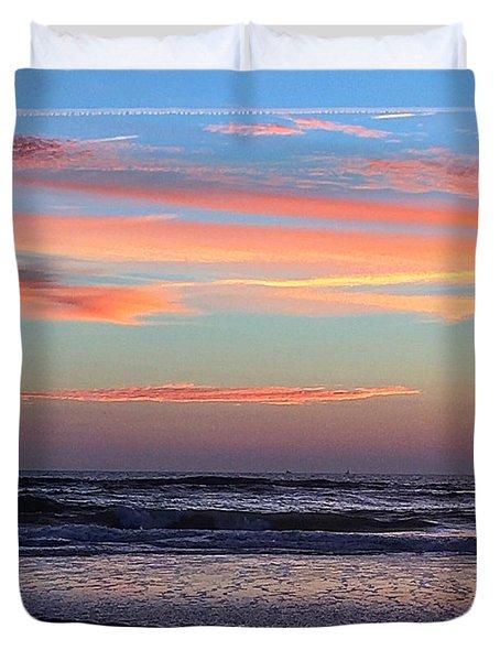 Gator Sunrise 10.31.15 Duvet Cover