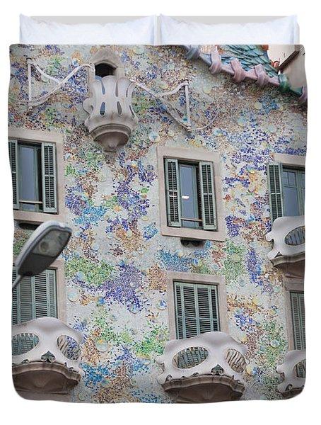 Gaudi Apartment Building Duvet Cover