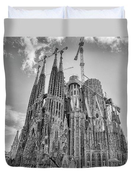 Gaudi La Sagrada Blk Wht Duvet Cover