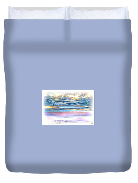 Duvet Cover featuring the photograph Gauzy Sunset by Walt Foegelle