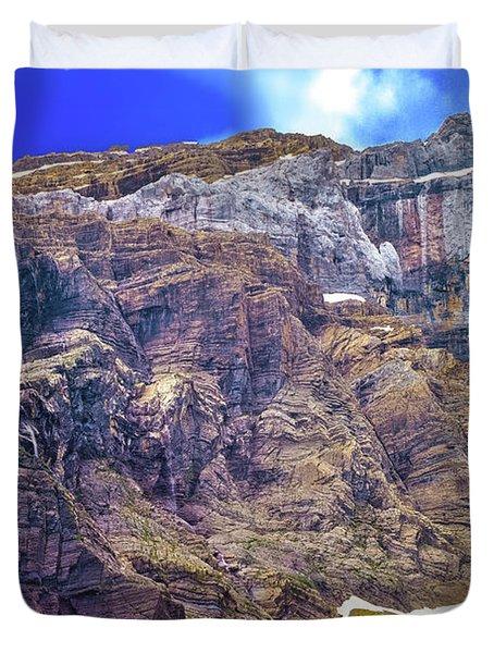 Gavarnie Circus Waterfall Duvet Cover