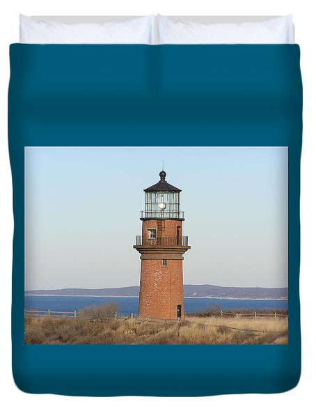 Gay Head Lighthouse Duvet Cover by Jewels Blake Hamrick