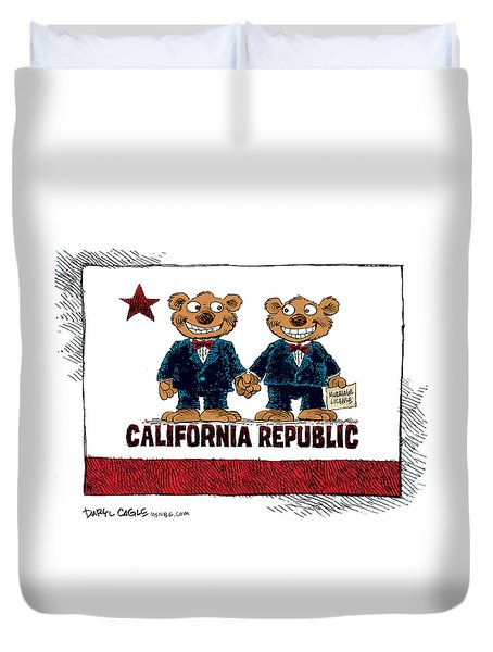 Gay Marriage In California Duvet Cover