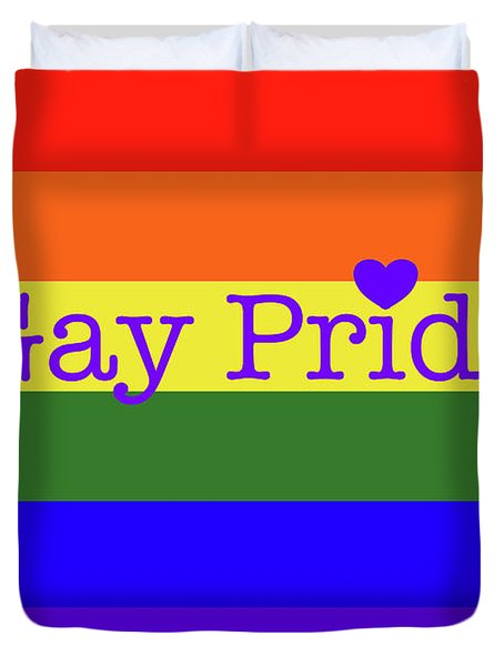 Gay Pride Love Duvet Cover
