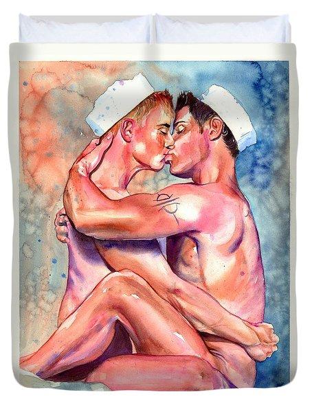 Gay Sailors Duvet Cover