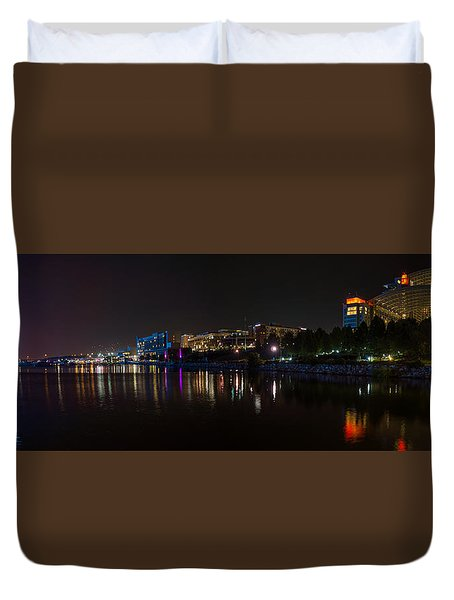 Gaylord National Resort And Convention Center At Night Duvet Cover