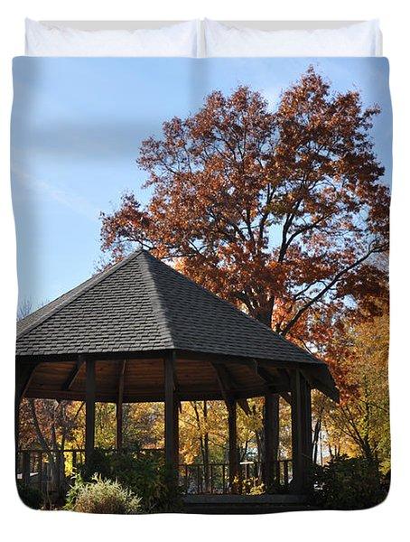 Gazebo At North Ridgeville - Autumn Duvet Cover