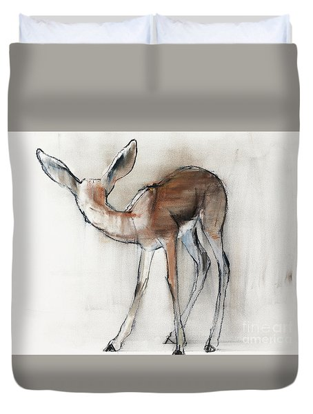 Gazelle Fawn  Arabian Gazelle Duvet Cover by Mark Adlington