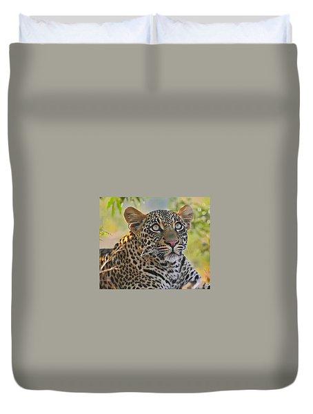 Gazing Leopard Duvet Cover