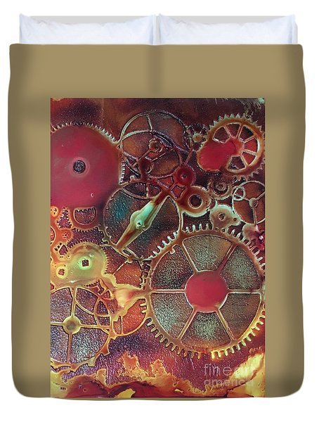Gear Works Duvet Cover by Suzanne Canner