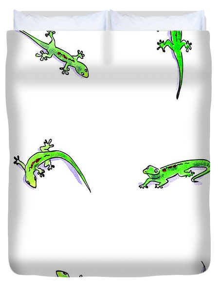 Gecko Play Duvet Cover