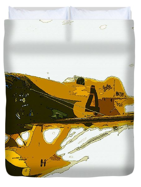 Gee Bee Model Z Duvet Cover by David Lee Thompson