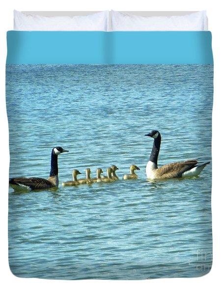 Geese Proud Parents Duvet Cover