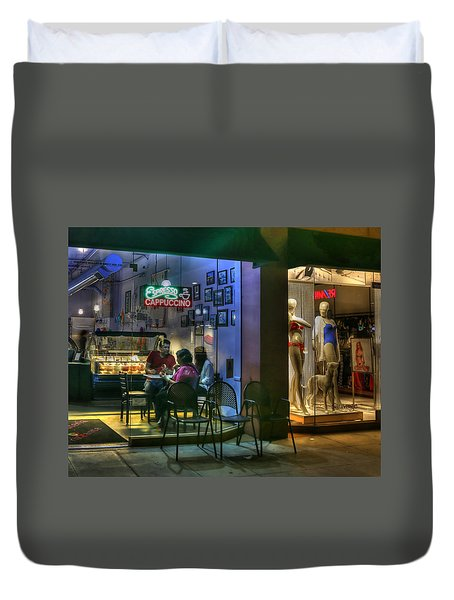 Gelato In La Jolla Duvet Cover