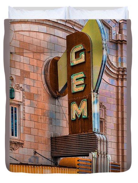 Gem Theater In Kansas City Duvet Cover