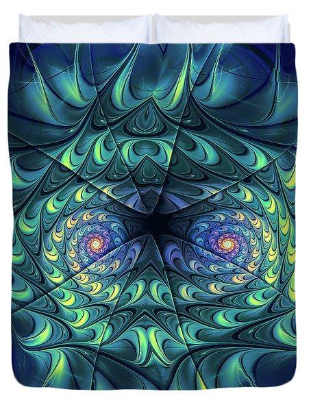 Duvet Cover featuring the digital art Gemini by Jutta Maria Pusl