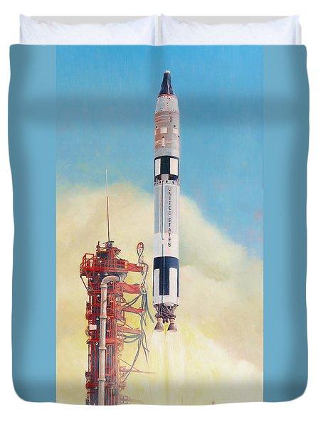 Gemini-titan Launch Duvet Cover