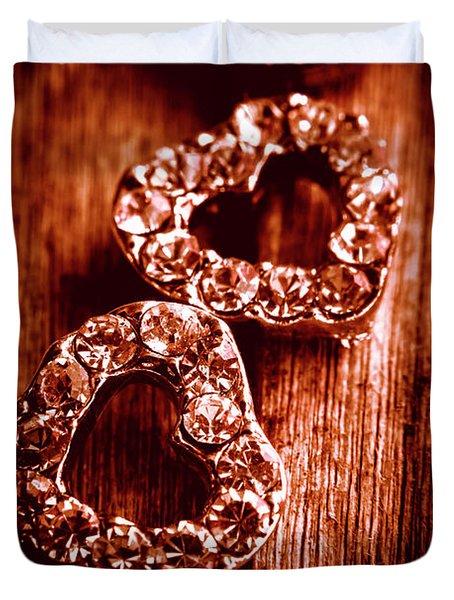 Gems Of Fashionable Romance Duvet Cover